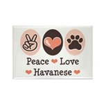 Peace Love Havanese Rectangle Magnet (100 pack)