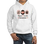 Peace Love Havanese Hooded Sweatshirt