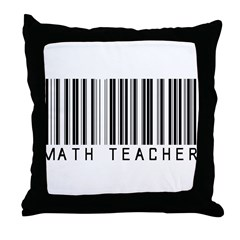 Math Teacher Barcode Throw Pillow