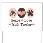 Peace Love Irish Terrier Yard Sign