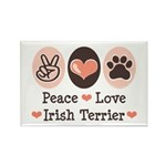 Peace Love Irish Terrier Rectangle Magnet (100 pac