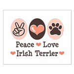 Peace Love Irish Terrier Small Poster