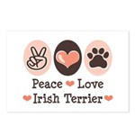 Peace Love Irish Terrier Postcards (Package of 8)