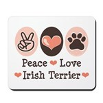 Peace Love Irish Terrier Mousepad
