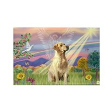 Cloud Angel & Yellow Lab Rectangle Magnet