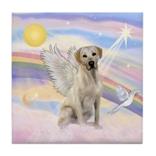 Angel Labrador Tile Coaster