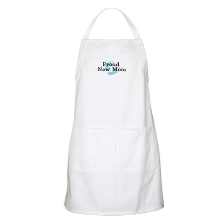 Proud New Mom Boy BBQ Apron