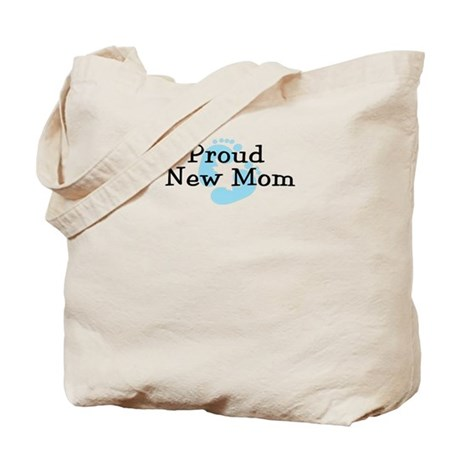 Proud New Mom Boy Tote Bag