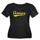 Vintage Amiya (Gold) Women's Plus Size Scoop Neck
