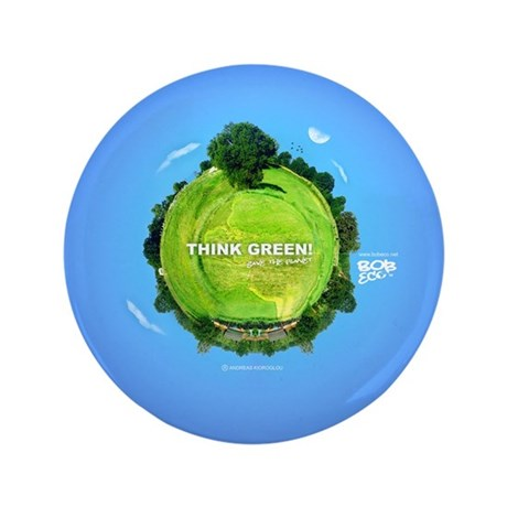 "Think Green Planet 3.5"" Button (100 pack)"