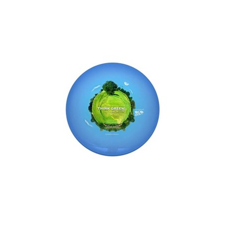 Think Green Planet Mini Button (10 pack)