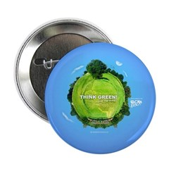 "Think Green Planet 2.25"" Button (100 pack)"