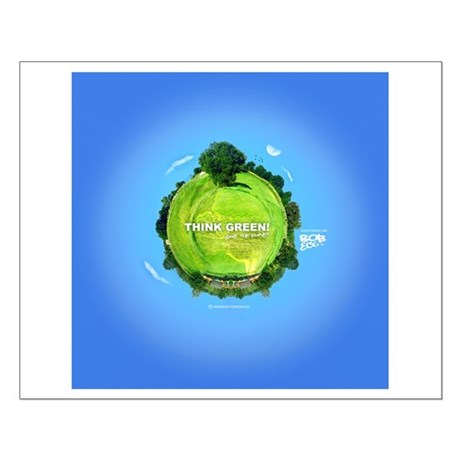 Think Green Planet Small Poster