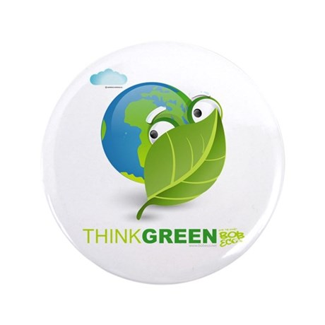 "Think Green 3.5"" Button (100 pack)"