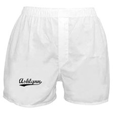 Vintage Ashlynn (Black) Boxer Shorts