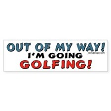 Golf Lovers Bumper Bumper Sticker