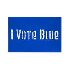 I Vote Blue 2 Rectangle Magnet