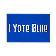I Vote Blue 2 Rectangle Magnet (10 pack)