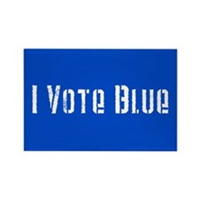I Vote Blue 2 Rectangle Magnet (100 pack)