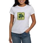 Irish Shamrock Quilting Block Women's T-Shirt