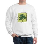 Irish Shamrock Quilting Block Sweatshirt