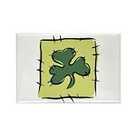 Irish Shamrock Quilting Block Rectangle Magnet (10
