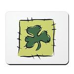 Irish Shamrock Quilting Block Mousepad