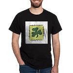 Irish Shamrock Quilting Block Dark T-Shirt