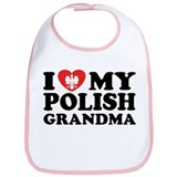 I Love My Polish Grandma Bib