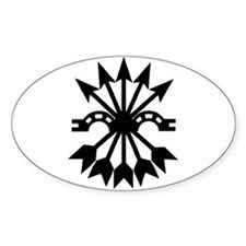 Falange (Yoke and Arrows) Oval Decal