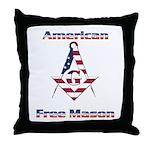 American Free Mason Throw Pillow