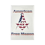 American Free Mason Rectangle Magnet (100 pack)