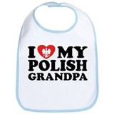 I Love My Polish Grandpa Bib