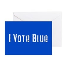 I Vote Blue 2 Greeting Cards (Pk of 20)