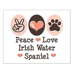 Peace Love Irish Water Spaniel Small Poster