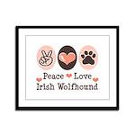 Peace Love Irish Wolfhound Framed Panel Print