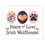 Peace Love Irish Wolfhound Small Poster