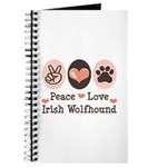 Peace Love Irish Wolfhound Journal