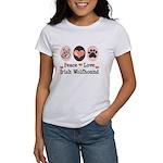 Peace Love Irish Wolfhound Women's T-Shirt