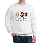 Peace Love Irish Wolfhound Sweatshirt