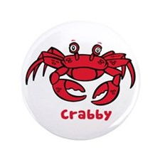 "Crabby Crab 3.5"" Button (100 pack)"
