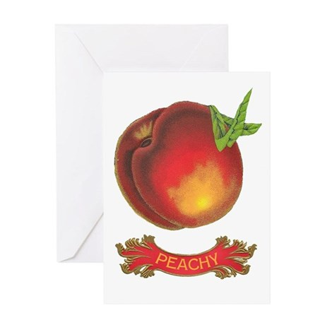 Peachy White Greeting Card