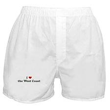 I Love the West Coast Boxer Shorts