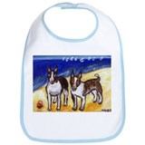 BULL TERRIERS at the beach Bib