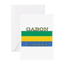 Gabon Gabonese Flag Greeting Card