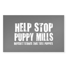 Puppy Mills Rectangle Decal