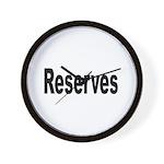 Reserves Wall Clock