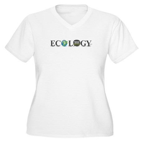 Ecology Women's Plus Size V-Neck T-Shirt