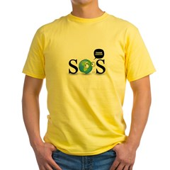 SOS. Think Green. Yellow T-Shirt