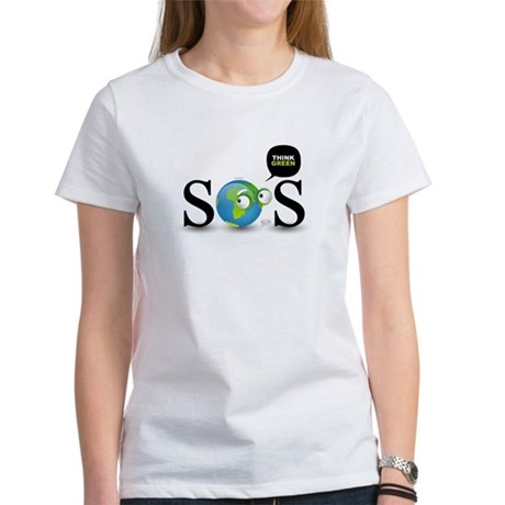 SOS. Think Green. Women's T-Shirt